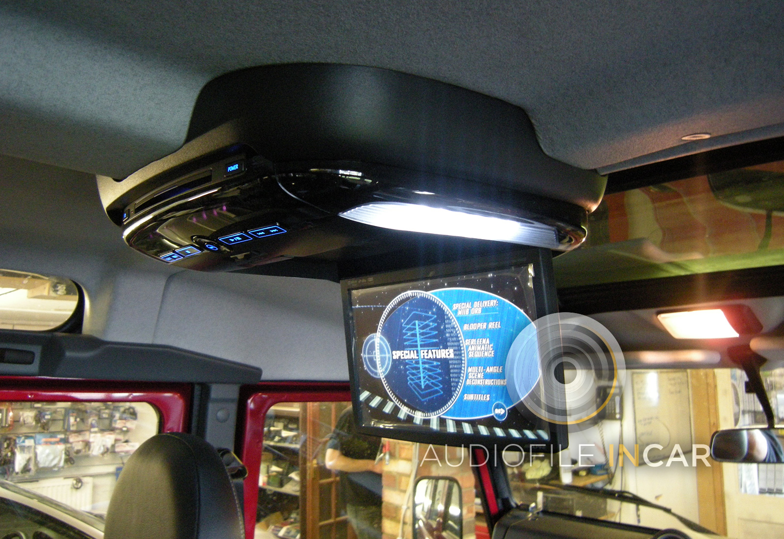 Land Rover Defender Rear Entertainment System