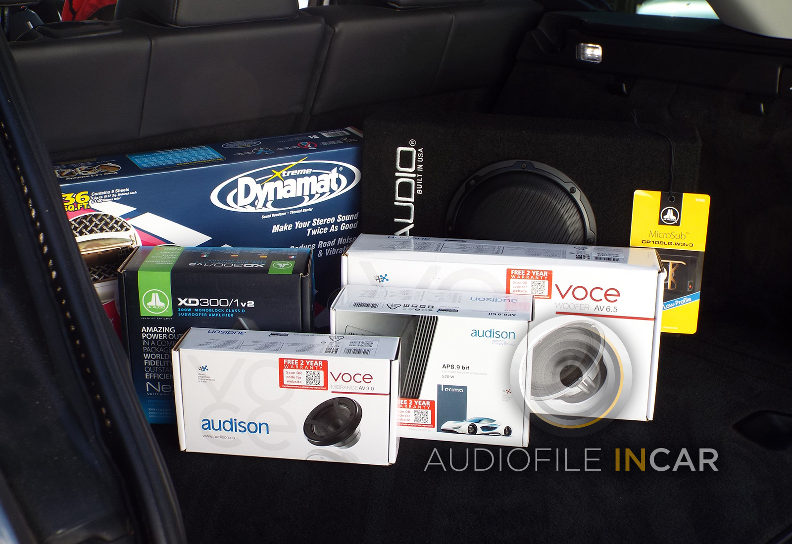 The equipment used in the Audiofile-Incar Range Rover Premium Audio Upgrade.